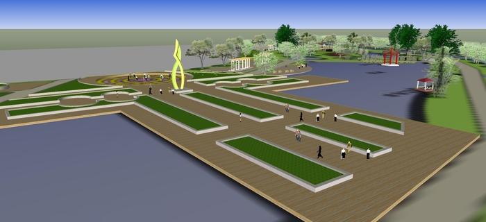 公园平面图 公园绿化设计平面图