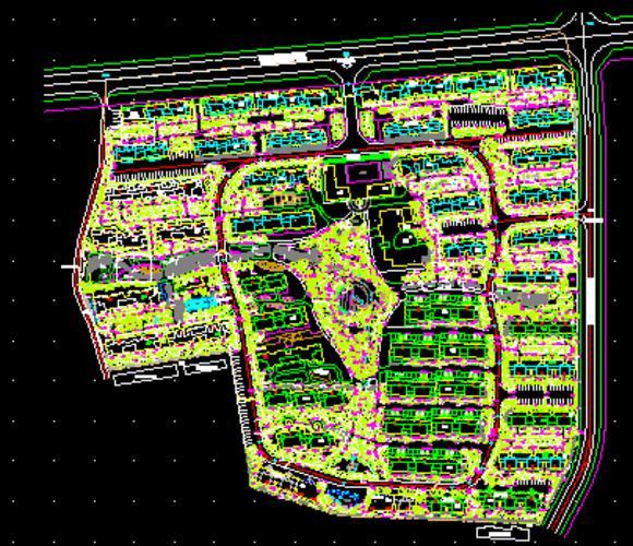 某小区中心绿地种植平面图.