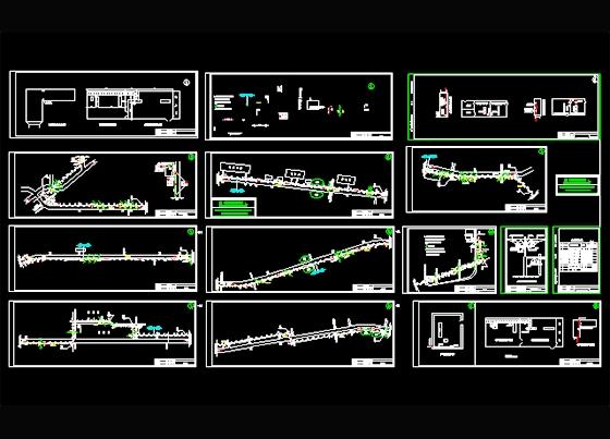 图纸饥荒的工程图纸管网发光器图片