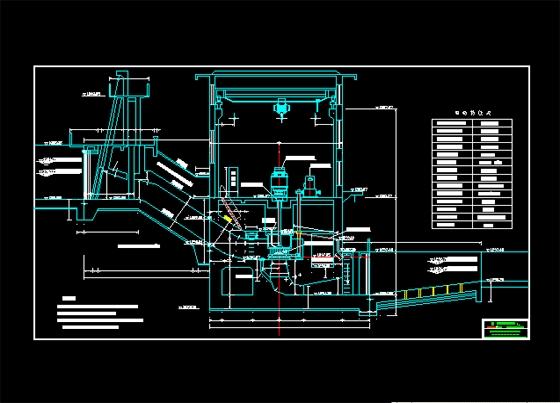 小水电厂房结构图,是设计院优秀设计图  相关专题:隧道剖面图 公路