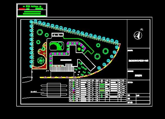 公路收费站办公区绿化设计图