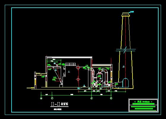 锅炉房剖面图_cad图纸下载-土木在线