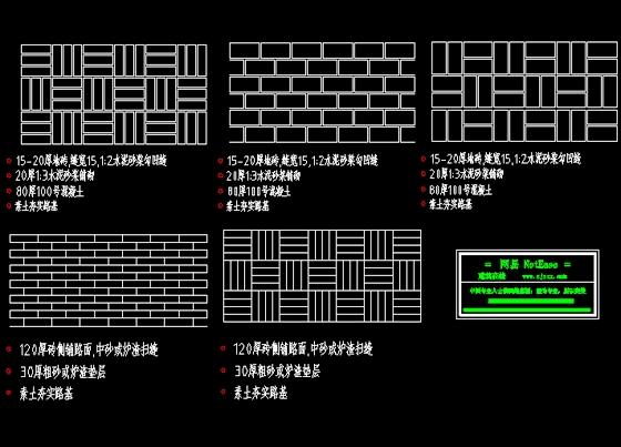 建筑CAD常用千种图块之人行道