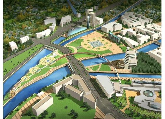 都江堰市广场景观效果图