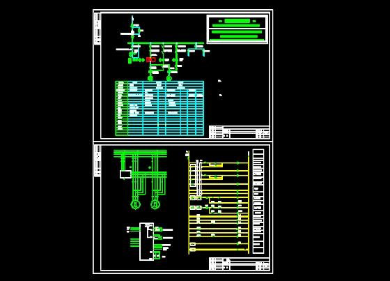 一拖二恒压供水系统图纸 潜水泵型号 软启动器一拖二接线图  所属分类