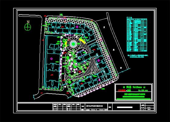 居住区及公园绿化设计图(居住区绿化)  珠海一小区绿化平面   挺好的