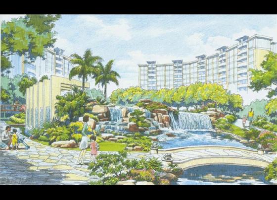 图纸 园林设计图 园林景观效果图 园林景观手绘图 公园手绘图  (0人