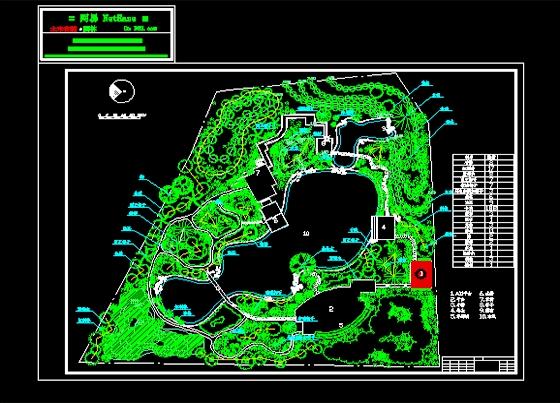 园总平面图_co土木在线图纸下载;