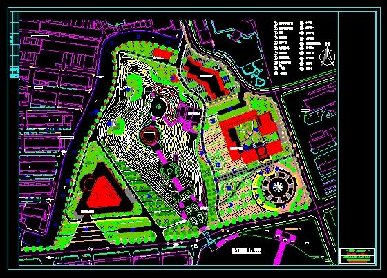陵园设计总平面图