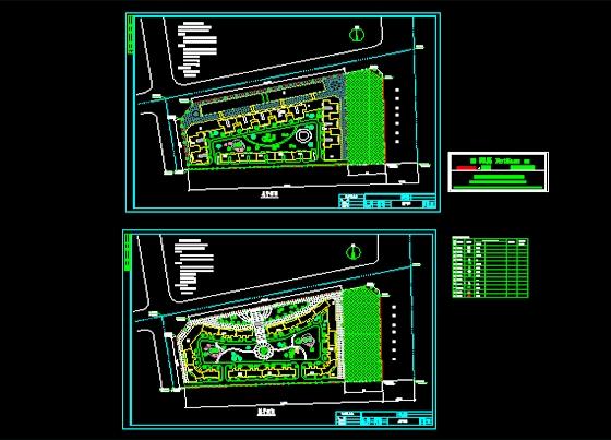 及公园绿化设计图 居住区花园广场绿化图