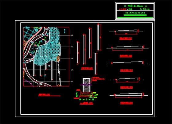 景墙施工图_cad图纸下载-土木在线