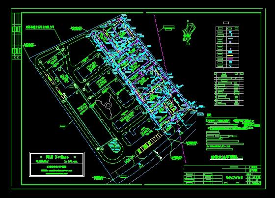 某工厂水施总平面图