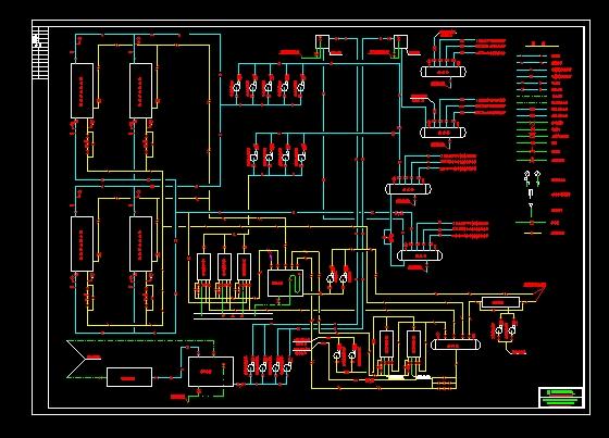 溴化锂制冷系统原理图(cad图纸下载)-图1