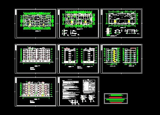 某单位住宅设计图(cad图纸下载)-图1