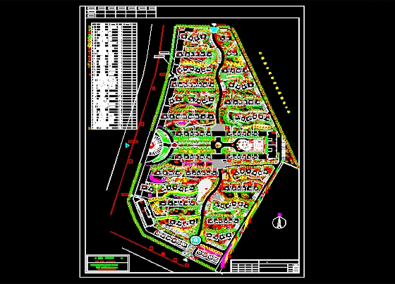 某住宅小区绿化总平面图