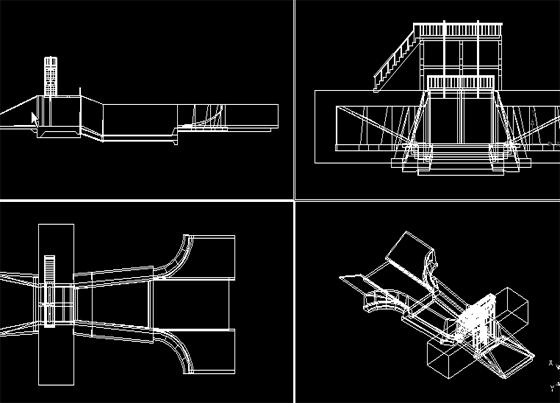 水闸模型三视图