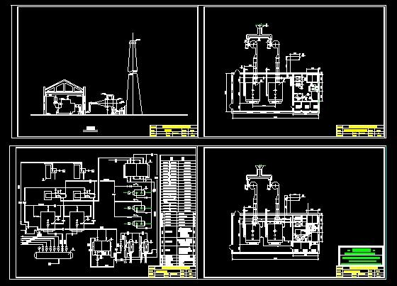 某工厂锅炉房设计图图片