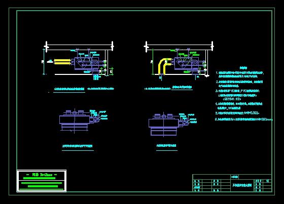 图纸 暖通设计图 标准大样图 通风空调标准大样图 风机盘管双线安装图