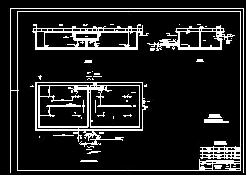 【氧化沟工艺】氧化沟工艺厌氧选择池工艺图_cad图纸图片