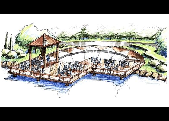 园林设计图  园林景观效果图