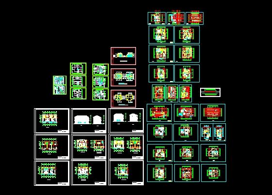 4m 农村小型别墅设计建筑图全 别墅设计00000000 园林毕业设计(花园
