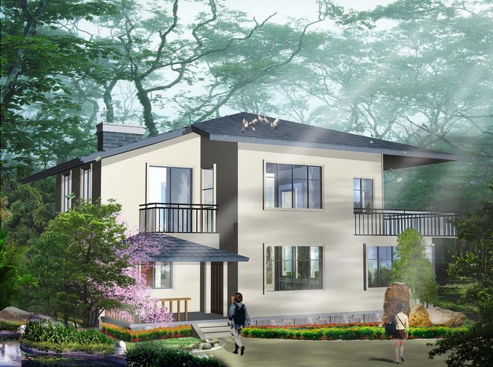 园林设计图 独栋别墅方案2