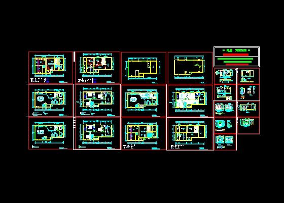 图纸 建筑图纸 别墅图纸 别墅设计图 整套复式楼施工图  上传时间:200