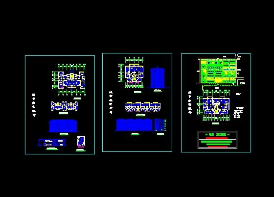城市住宅建筑设计(cad图纸下载)-图1