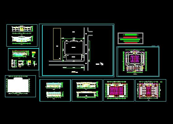 灯光球场建筑方案(cad图纸下载)-图1