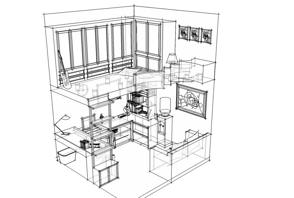 工程图 简笔画 平面图 手绘 线稿 958_645图片
