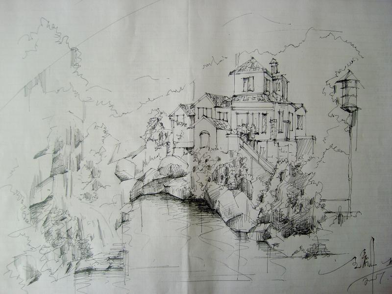 相关专题:手绘牌坊 手绘总图 手绘立面 手绘亭子 园林手绘