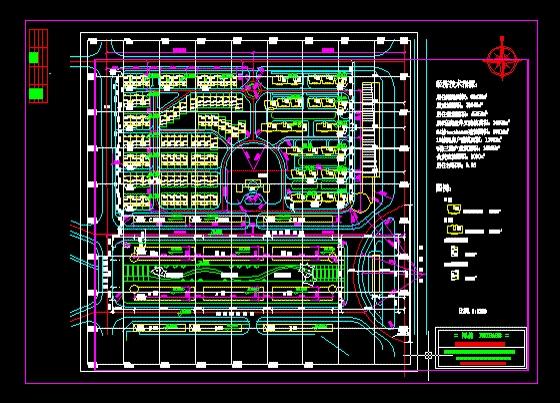 总平面施工图   小区总平面施工图   居住区及公园绿化设计高清图片