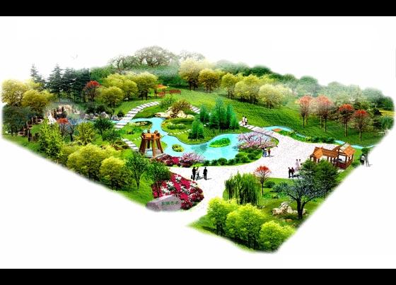 小游园平面设计图 相关专题:  上传时间:2005-07-14 所属分类:手绘图&