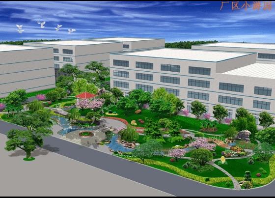 图纸 园林设计图 园林景观效果图 园林景观鸟瞰图 厂区小游园效果图