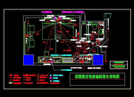 设计包含客房智能电控系统(微电脑集控板),闭路电视系统,网络服务系统图片