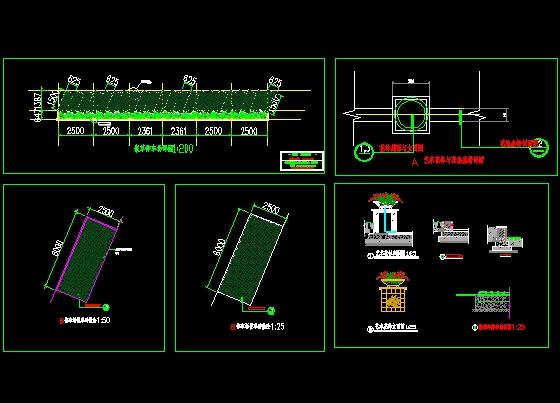 停车场及花池详图