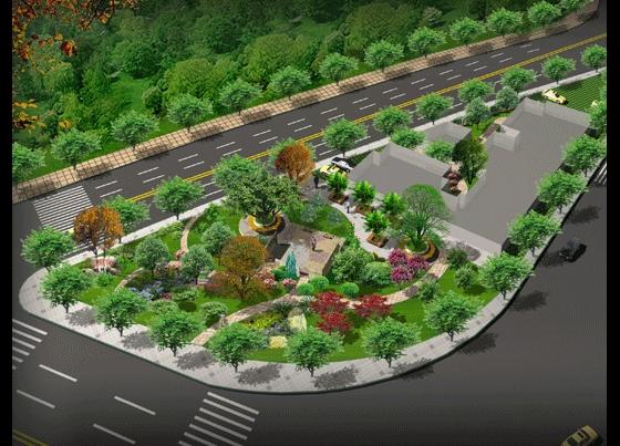 小游园设计平面图 cad小游园设计图 小游园景观设计图 小游园平面设计