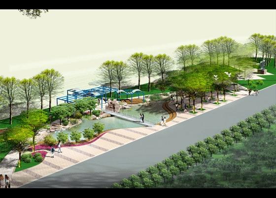 图纸 园林设计图 园林景观效果图 园林景观立面效果图 景观主题广场