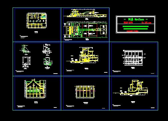 图纸 水利工程设计图 闸门启闭机 机电设备 泵站平面布置图  上传时间