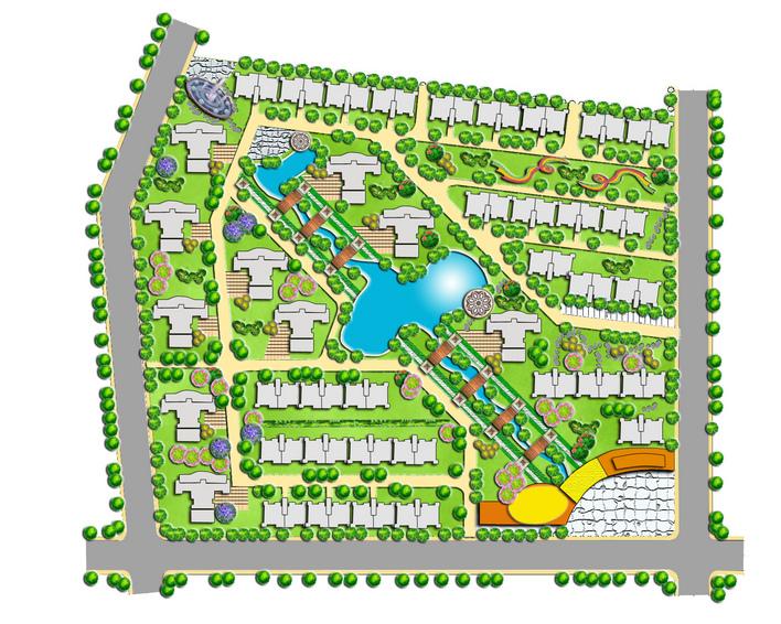 小区规划效果图