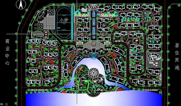 设计小区快题设计小区景观快题设计小区入口大门设计欧式小区入口设计