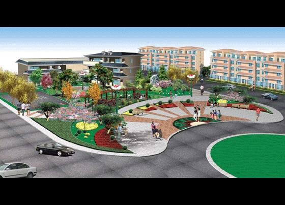 某小区广场绿化效果图