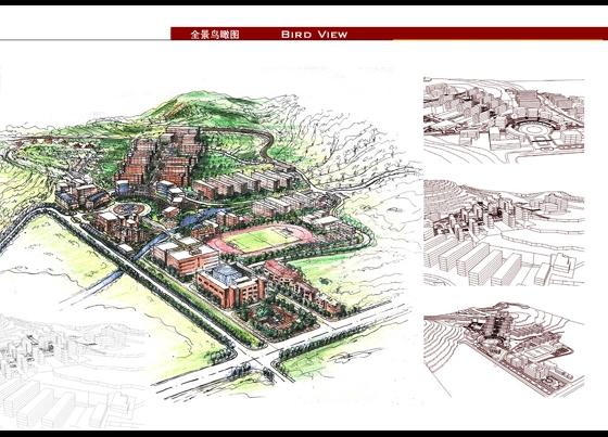 学校景观施工 学校景观设计 大学校园景观规划设计 大学校园景观规划