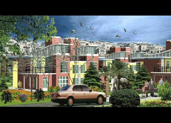 花园洋房奢华欧式四层别墅装修图(含效果图,共63张) 中式风格的三层别