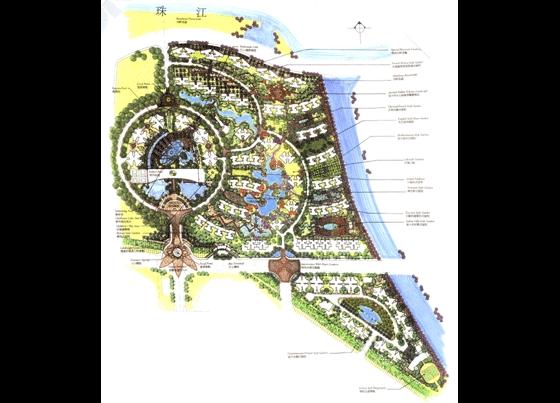 小区总规划彩平图