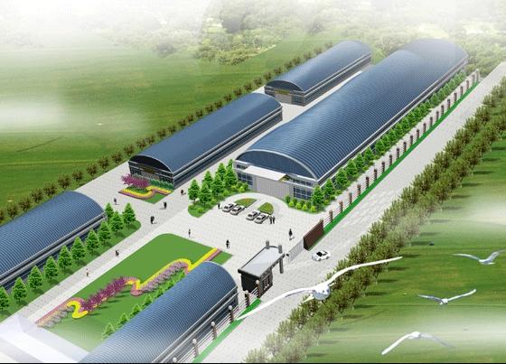 图纸 园林设计图 园林景观效果图 园林景观鸟瞰图 厂区绿化景观设计