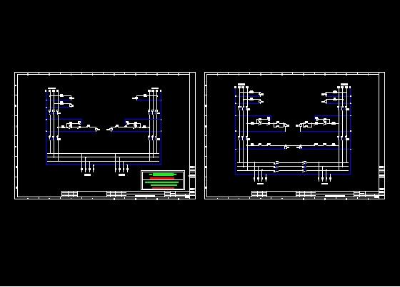 用交流接触器自制自投自复/互投自复双电源