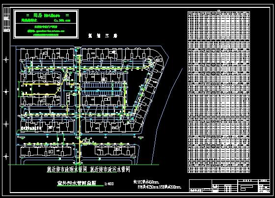 讹k�ynl�(h_小区室外雨污管网施工图