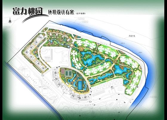 园林景观彩平图素材 园林规划设计平面图