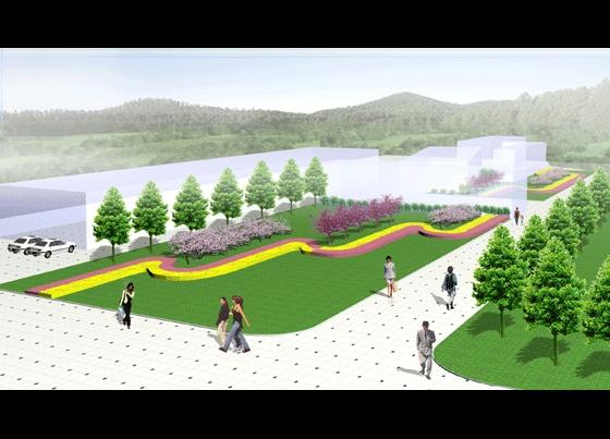 工厂环境绿化设计效果图